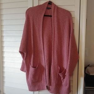 American Eagle Pink Oversized Cardigan